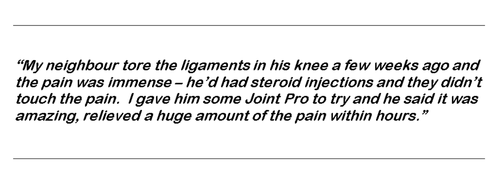 Joint Pro is extrmely effective for pain