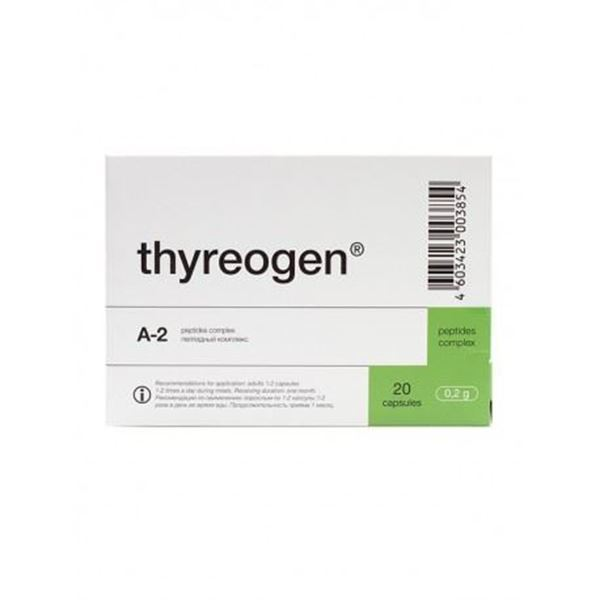 Thyreogen is a thyroid peptide that may help to repair and regenerate the thyroid. It may help to improve hypothyroidism, hyperthyroidism and autoimmune thyroiditis.