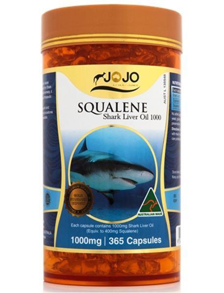 Picture of Jo Jo Squalene Shark Liver Oil 1000mg 365s