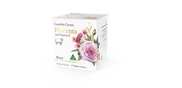 Picture of Lanolin Cream with Placenta Rose 100g 6Pack