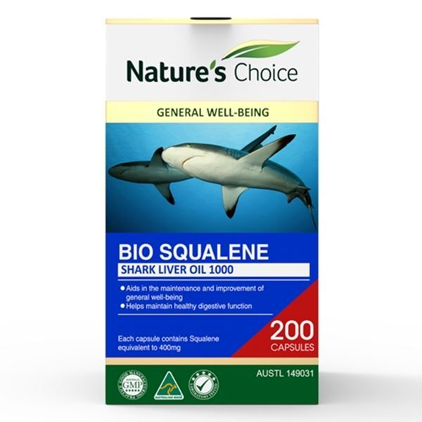 Picture of Squalene Shark Liver Oil 1000mg 200s w/box