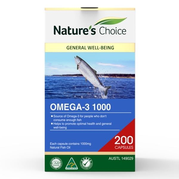 Picture of Omega-3 1000mg 200s w/box