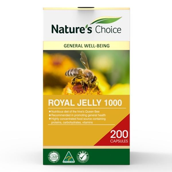 Picture of Royal Jelly 1000mg 200s w/box