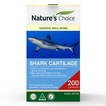 Picture of Shark Cartilage 750mg 200s w/box