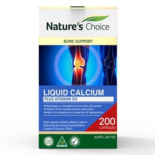 Picture of Liquid Calcium + Vitamin D3 200s w/box