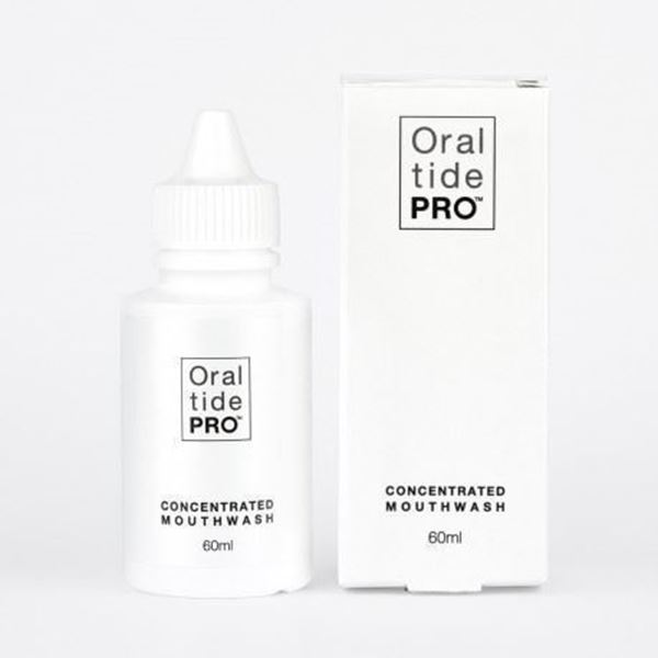 Oraltide Pro: a unique peptide based mouthwash designed to speed healing of mouth and tongue, helps with enamel remineralization and promotes growth of shrinking gums.