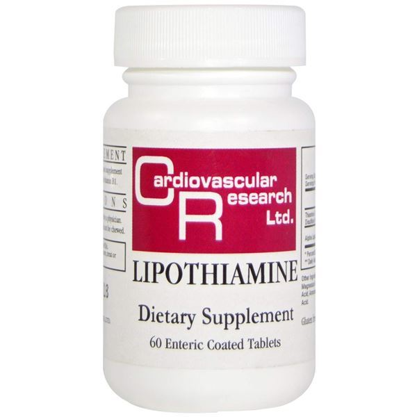 Lipothiamine 50mg B1 60 Tablets